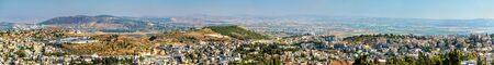 nazareth: Panoramic view of Nazareth, the capital of the Northern District of Israel Stock Photo