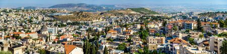 annunciation: Panorama of Nazareth with Basilica of Annunciation - Israel