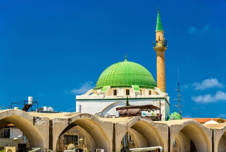 acre: Al Jazzar Mosque in the old city of Acre - Israel
