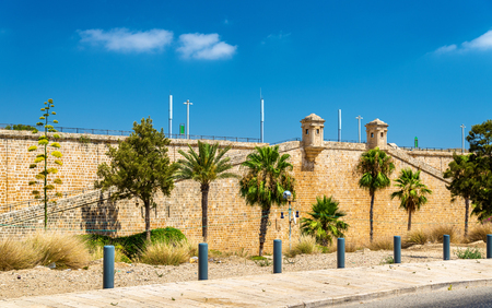 acre: View of the Ancient City Walls of Acre - Israel
