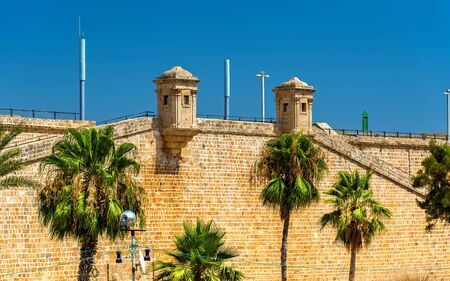 View of the Ancient City Walls of Acre - Israel