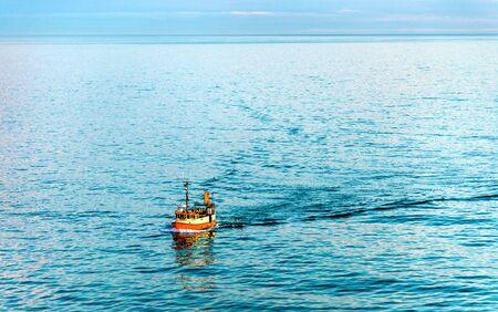 hirtshals: Boat in the Skagerrak Strait near Port of Hirtshals - Denmark