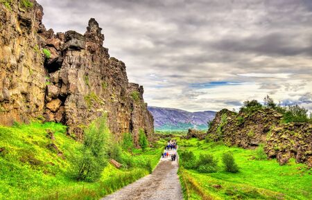 fissures: Fissures of the Mid-Atlantic Ridge in the Thingvellir National Park - Iceland