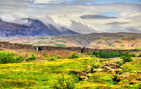 Thingvellir National Park, Site in Iceland Stock Photo