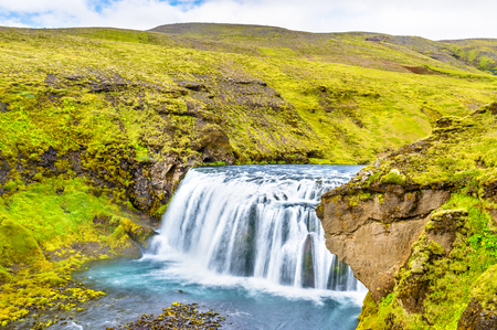 One of numerous waterfalls on the Skoga River - South Iceland