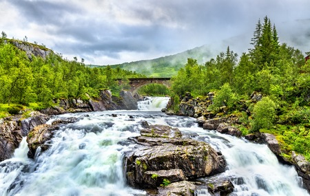north cascade national park: Voringsfossen waterfall on the Bjoreia river in Hordaland, Norway