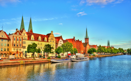 The Trave River in Lubeck - Germany, Schleswig-Holstein
