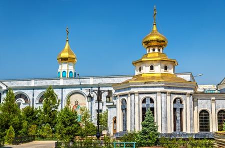 russian orthodox: Dormition Cathedral of Russian Orthodox Church in Tashkent, Uzbekistan Stock Photo