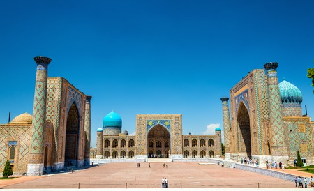 The Registan, the heart of the ancient city of Samarkand - Uzbekistan