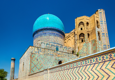 View of Bibi-Khanym Mosque in Samarkand - Uzbekistan. Built in 15th century
