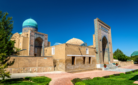 Shah-i-Zinda, a muslim necropolis in Samarkand - Uzbekistan. The ensemble includes mausoleums and other ritual buildings of 9-14th and 19th centuries.