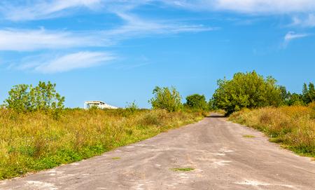 Typical rural landscape of Kursk region, Bolshoe Gorodkovo village, Russia