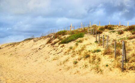 aquitaine: Beach on the Atlantic Ocean near Seignosse - France, Aquitaine Stock Photo