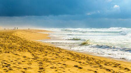 Beach on the Atlantic Ocean near Seignosse - France, Aquitaine Stock Photo