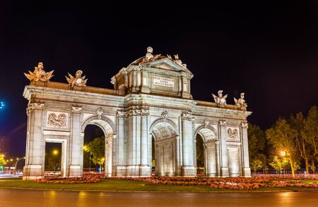 The Puerta de Alcala, one of the ancient gates of Madrid - Spain