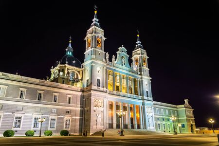 Santa Maria la Real de La Almudena, the Catholic cathedral in Madrid - Spain Stock Photo
