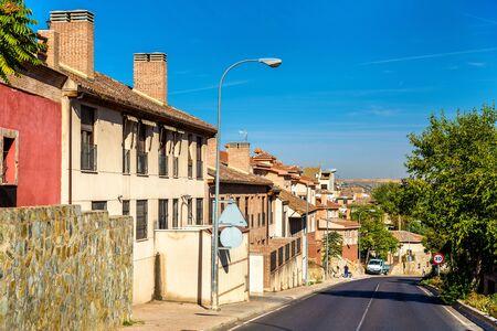 mancha: Typical buildings in Toledo - Spain, Castilla-La Mancha