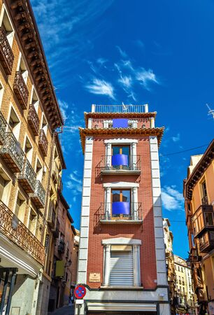 Traditional buildings in Toledo - Spain, Castilla-La Mancha Stock Photo
