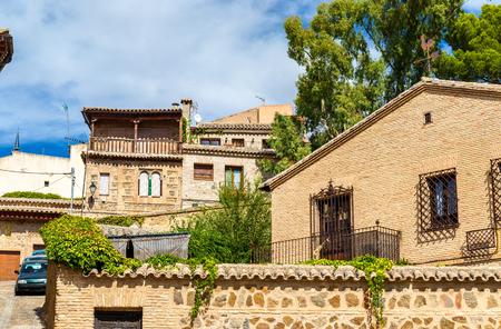 mancha: Traditional buildings in Toledo - Spain, Castilla-La Mancha Stock Photo