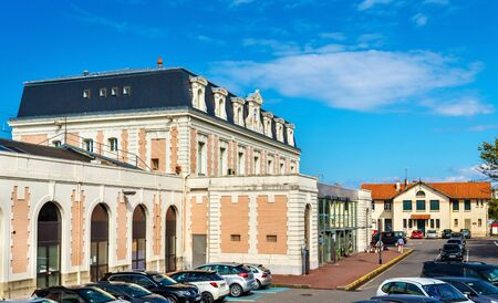france station: Hendaye Railway Station in France, on the Spanish border. Stock Photo