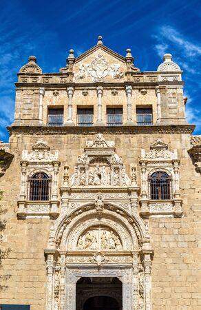 plateresque: Plateresque facade of Santa Cruz Museum in Toledo - Spain Stock Photo