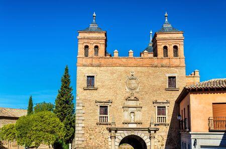 mancha: Puerta del Cambron, a city gate of Toledo - Spain Stock Photo