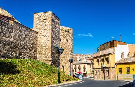 Defensive walls in Toledo - Spain, Castile-La Mancha Stock Photo