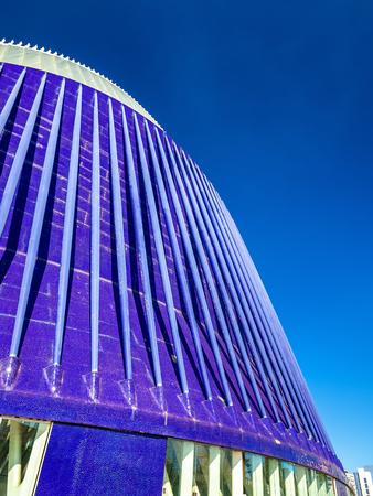arpa: Valencia, España - 29 octubre 2016: El edificio del Ágora de la Ciudad de las Artes y las Ciencias. Es un espacio cubierto multifuncional diseñado por Santiago Calatrava. Editorial