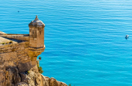 Watchtower of Santa Barbara Castle in Alicante - Spain