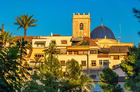 View of the Basilica menor of Santa Maria in Elche - Spain