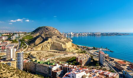 View of Serra Grossa o San Julian Mountain in Alicante - Spain