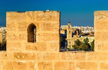 The Santa Monica Church as seen from Serranos Gate - Valencia, Spain