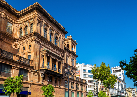seville: Buildings in the city centre of Seville - Spain, Andalusia Stock Photo