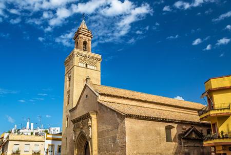 세비야 - 스페인, 안달루시아에서 산 마르코스 교회 스톡 콘텐츠