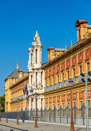 The Palace of San Telmo in Sevilla - Spain, Andalusia Stock Photo
