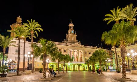 View of the city hall of Cadiz - Spain, Andalusia Stock Photo