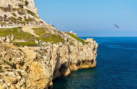 Seaside of Gibraltar at Europa Point, a British overseas territory Stock Photo