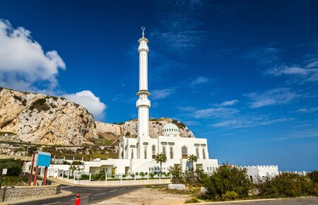 Ibrahim-al-Ibrahim Mosque at Europa Point in Gibraltar, a British overseas territory