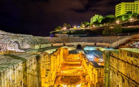 Tarragona Amphitheatre at night - Catalonia, Spain