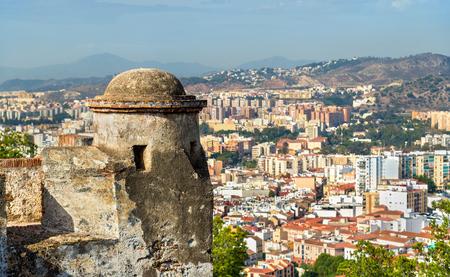 Gibralfaro Castle in Malaga - Andalusia, Spain