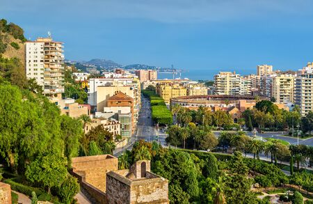 View of Malaga with la Malagueta Bullring. Spain