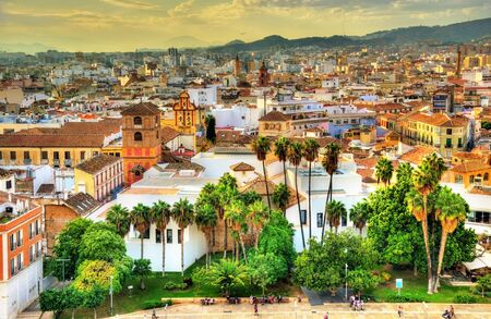 View of Malaga from the Alcazaba, Andalusia, Spain