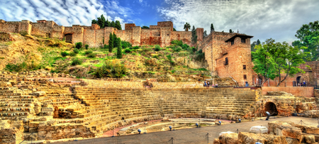 Ancient Roman Theatre in Malaga, Andalusia, Spain