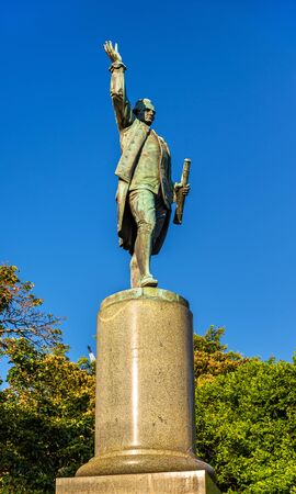 Statue of Captain Cook in Hyde park - Sydney