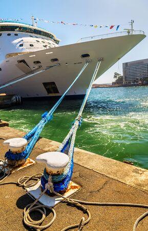 Cruise Ship moored in Sydney Harbour, Australia