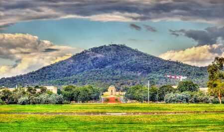 Perspective view towards the Australian War Memorial in Canberra