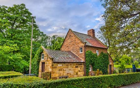hedge: Captain Cooks Cottage in Fitzroy Garden - Melbourne, Australia