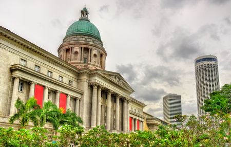 Old Supreme Court Building in Singapore. Currently it is National Art Gallery Stock Photo