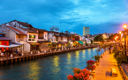 The old town of Malacca, a UNESCO World Heritage Site in Malaysia Standard-Bild