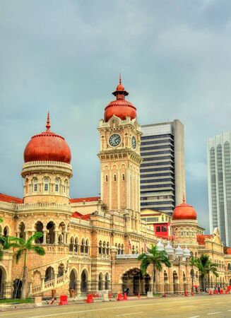 Sultan Abdul Samad Building in Kuala Lumpur. Built in 1897, it houses now offices of the Information Ministry. Malaysia Stock Photo